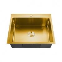 Мойка врезная 60х50 FABIA Profi (3.0х200) Золото выпуск 3 1/2 с сифоном, с коландером код 101597