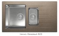 Комбинированная кухонная мойка TOLERO TWIST TTS-890K темно-бежевая код 101855-823