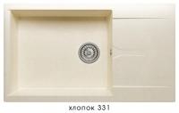Мойка для кухни гранитная Polygran Gals-862 хлопок код 101949