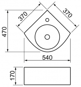 Раковина melana mln-7929 код 102045