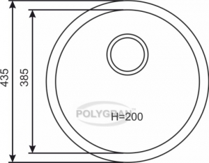 Кварцевая мойка для кухни TOLERO R-104 серый металлик код 100091