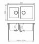 Комбинированная кухонная мойка TOLERO TWIST TTS-840 серая код 101589-701