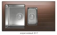 Комбинированная кухонная мойка TOLERO TWIST TTS-890K коричневая код 101855-817