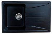 Мойка для кухни мрамор Granicom G-022 антрацит (черный) код 100334