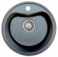 Мойка для кухни искусственный камень NOVELL Лира обсидиан (черный) код 100597
