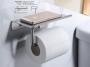 Держатель для туалетной бумаги с полкой MELANA AISI 304 сатин MLN-SY1002A код 101460