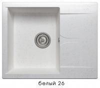 Мойка для кухни гранитная Polygran Gals-620 белая код 101799