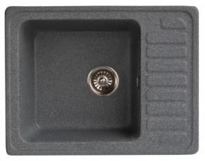 Мойка для кухни искусственный камень NOVELL Глория графит код 101427