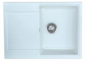 Мойка для кухни искусственный камень NOVELL София белая код 101856