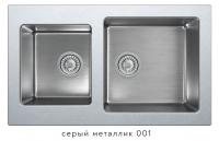 Комбинированная кухонная мойка TOLERO TWIST TTS-840 серый металлик код 101589-001