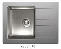 Комбинированная кухонная мойка TOLERO TWIST TTS-660 серая код 101567