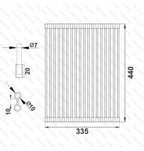 Коврик для мойки MELANA PROFLINE код 102007