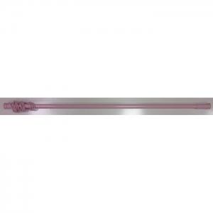 Карниз для в/к розовый с пружиной, с кольцами 110-200, ZALEL код 101761