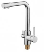 Смеситель для кухни Accoona A5179-4 с выходом для питьевой воды код 101722