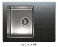 Комбинированная кухонная мойка TOLERO TWIST TTS-660 черная код 101826