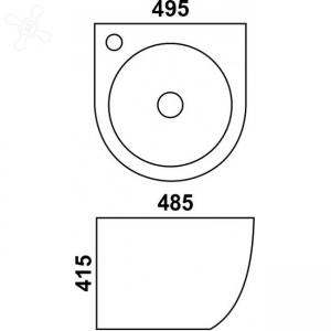 Раковина Melana mln-500FBW код 101484