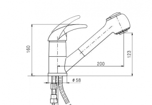 Смеситель для кухни Tolero белый с выдвижной лейкой код 101606-923