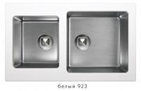 Комбинированная кухонная мойка TOLERO TWIST TTS-840 белая код 101589-923