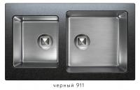 Комбинированная кухонная мойка TOLERO TWIST TTS-840 черная код 101589-911