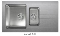 Комбинированная кухонная мойка TOLERO TWIST TTS-890K серая код 101855-701