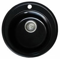 Мойка для кухни мрамор Granicom G-009 антрацит (черный) код 100292