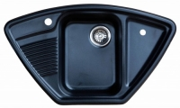 Мойка для кухни мрамор Granicom G-008 антрацит (черный) код 100285
