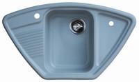 Мойка для кухни мрамор Granicom G-008 серебристая код 100289