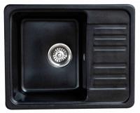 Мойка для кухни мрамор Granicom G-007 антрацит (черный) код 100278