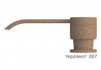 Дозатор моющего средства с флаконом Polygran терракот код 100036-307