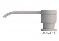 Дозатор моющего средства с флаконом Polygran серый код 100036-14