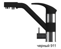 Смеситель для кухни TOLERO Дуо черный с возможностью подключения фильтра для воды код 101123-911