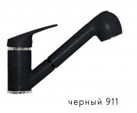 Смеситель для кухни Tolero черный с выдвижной лейкой код 101606-911