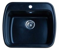 Мойка для кухни мрамор Granicom G-003 антрацит (черный) код 100257