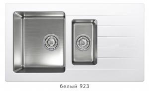Комбинированная кухонная мойка TOLERO TWIST TTS-890K белая код 101855-923