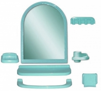 """Зеркальный набор для ванной комнаты """"Елена МХ"""" салатовый 1/6 код 100853-1"""