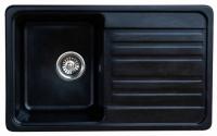 Мойка для кухни мрамор Granicom G-010 антрацит (черный) код 100300