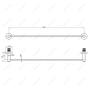 Штанга для полотенец MELANA сатин хром MLN-867001 код 101451