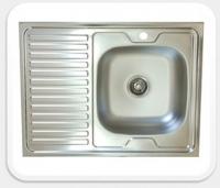Мойка для кухни накладная KromRus 800х600х0,4мм правая код A002352