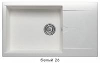 Мойка для кухни гранитная Polygran Gals-862 белая код 101945