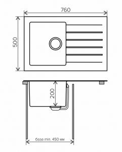 Комбинированная кухонная мойка TOLERO TWIST TTS-760 белая код 101583-923