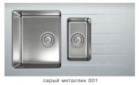 Комбинированная кухонная мойка TOLERO TWIST TTS-890K серый металлик код 101855-001