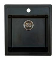 Мойка для кухни мрамор Granicom G-021 антрацит (черный) код 101129