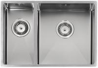 Кухонная мойка из нержавеющей стали Reginox Florida L 18х37+34х37 код 101517