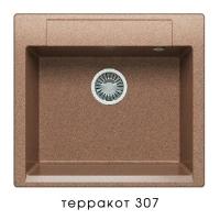 Мойка для кухни гранитная Polygran Argo-560 терракот код 101957