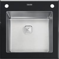 Комбинированная мойка TOLERO CERAMIC GLASS TG-500 черное стекло код 100420