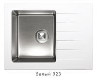 Комбинированная кухонная мойка TOLERO TWIST TTS-660 белая код 101568