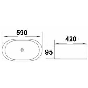 Накладная раковина melana mln-A328 код 101419