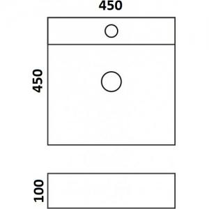 Накладная раковина Melana mln-7657 код 101633