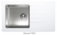 Комбинированная кухонная мойка TOLERO TWIST TTS-860 белая код 101590-923