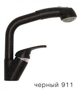 Смеситель кухонный Tolero высокая лейка черный код 101429-911